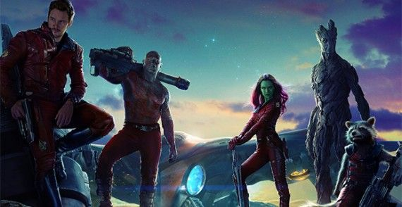 Guardians of the Galaxy Poster Art 570x294 Kevin Feige Says Marvel has No Firm Plans for a Female Superhero Movie