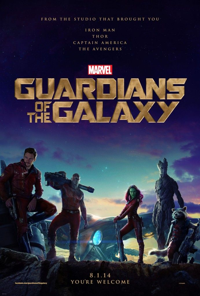 Guardians of the Galaxy Poster High Res 691x1024 The First Guardians of the Galaxy Poster is Awesome [Updated]