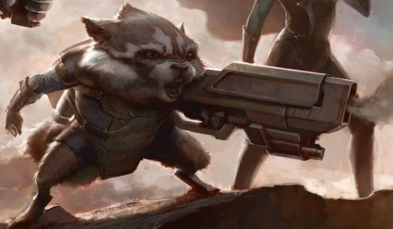Guardians of the Galaxy Rocket Raccoon 570x333 Rocket Raccoon is the Heart of Guardians of the Galaxy