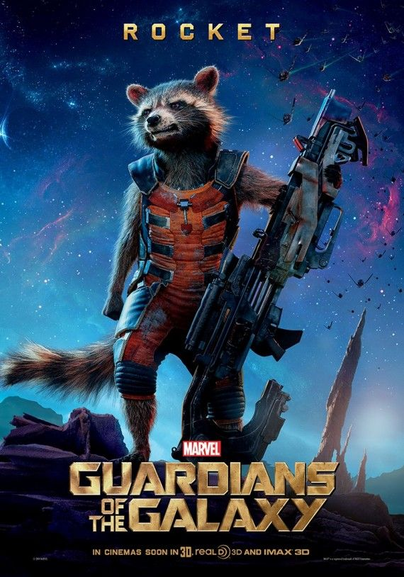 Guardians of the Galaxy Rocket character poster 570x814 Guardians of the Galaxy Character Posters & Yondu Image
