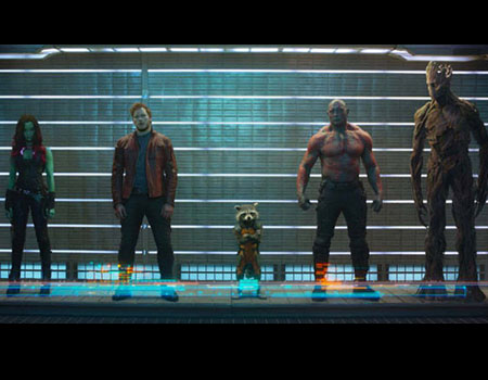 Guardians of the Galaxy Zoe Saldana Chris Pratt Bradley Cooper Dave Bautista Vin Diesel The Riskiest Box Office Bets of 2014