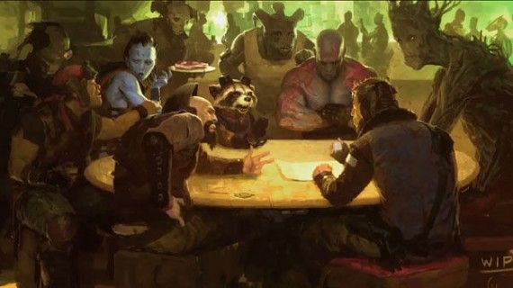 Guardians of the Galaxy movie cantina art 570x320 Rocket Raccoon is the Heart of Guardians of the Galaxy