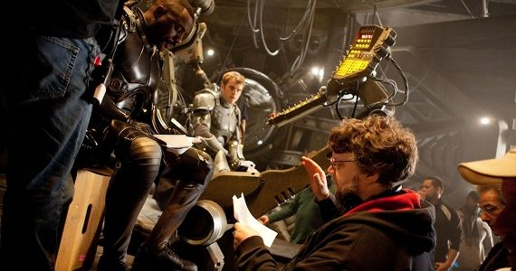 Guillermo del Toro on Pacific Rim set with Idris Elba Pacific Rim 2 Mapped Out But Dependent on Pacific Rim Box Office Success