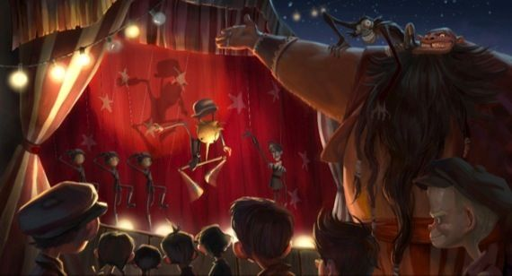 Guillermo del Toros Pinocchio movie artwork Guillermo del Toro to Co Direct 3D Stop Motion Pinocchio Flick