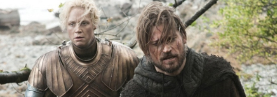 Gwendoline Christie and Nikolaj Coster Waldau in Game of Thrones Dark Wings Dark Words Game of Thrones Season 3, Episode 2 Review – Hes a Monster