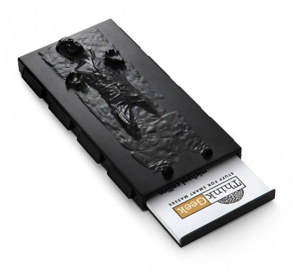 Han Solo in Carbonite Business Card Case1 570x529 SR Geek Picks: Batmans Evolution, Meeting of the Movie Jokers, Walter White Look Alikes & More