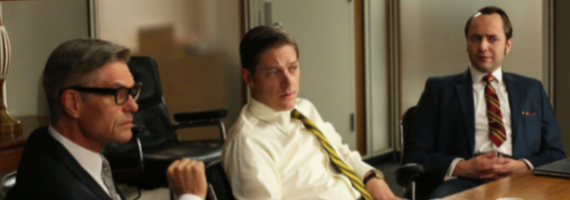 Harry Hamlin Kevin Rahm and Vincent Kartheiser in Mad Men A Tale of Two Cities Mad Men Season 6, Episode 10 Review – Transmissions To Do Harm