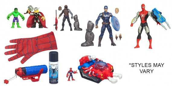 Hasbro Screen Rant Contest Toys 570x285 SR Giveaway – Win A Captain America and Spider Man Prize Pack! [Updated]