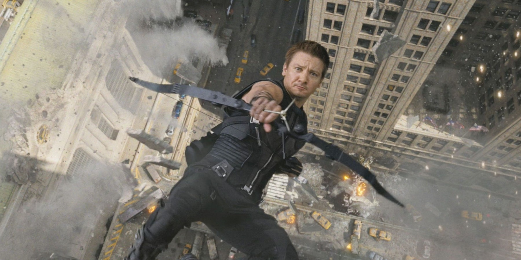 Hawkeye falling in the Avengers Jeremy Renner is Up for a Hawkeye Marvel Netflix Series