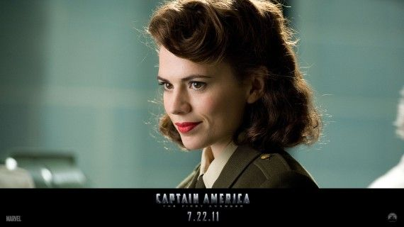 Hayley Atwell Peggy Carter Captain America 570x320 Peggy Carter (Hayley Atwell ) in Captain America: The First Avenger