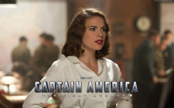 Hayley Atwell Peggy Carter Captain America The First Avenger 570x356 Peggy Carter (Hayley Atwell ) in Captain America: The First Avenger
