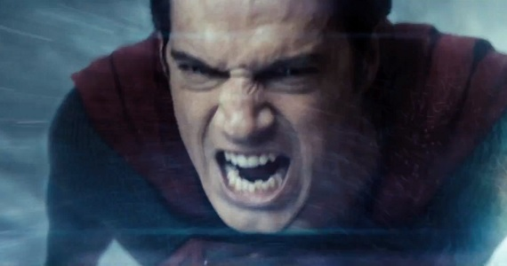 Henry Cavill as a very angry Superman in Man of Steel Man of Steel: Superman vs. Zod Clip & TV Spot #11