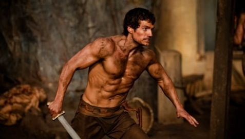 Henry Cavill in the teaser trailer for Immortals Immortals Trailer   Tarsem Singhs 300