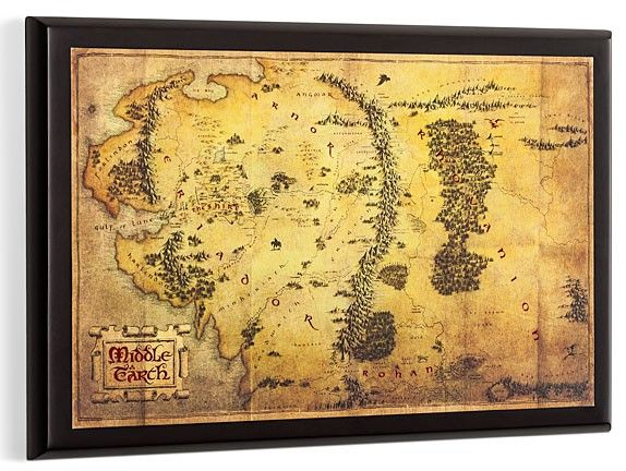 Hobbit Map of Middle Earth e1355668933975 SR Geek Picks: Zelda: Pot Smasher, Wreck It Ralph Fight Club, Lord of the Rings Theme Song & More!