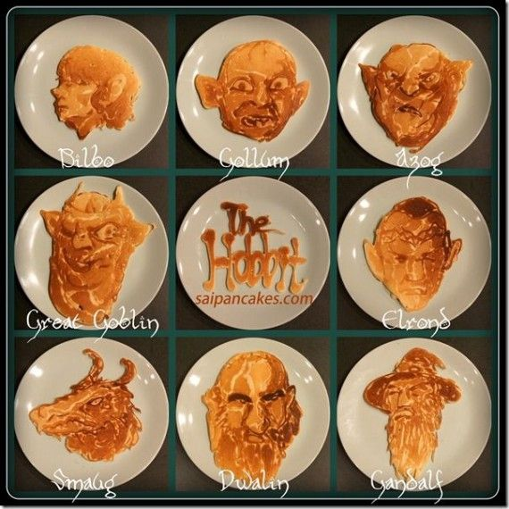 Hobbit Pancakes 570x570 SR Geek Picks: The Matrix Man of Steel, Transformers 4 Wahlberg Trailer, Batman Western, & More