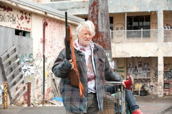 Hobo with a shotgun First Look at Rutger Hauer as the Hobo With a Shotgun