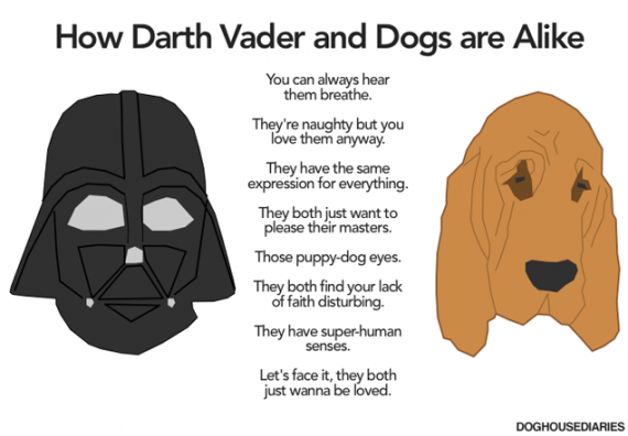 How Darth Vader and Dogs are Alike 570x396 SR Geek Picks: How Darth Vader & Dogs Are Alike, Breaking Bad Meets Girl Scouts, & More!