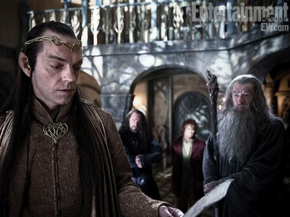 Hugo Weaving as Elrond in The Hobbit