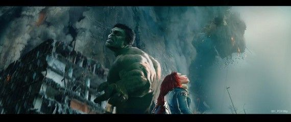 Hulk Black Widow Official The Avengers 2 Age of Ultron Concept Art 570x240 Hulk and Black Widow   Official The Avengers 2: Age of Ultron Concept Art