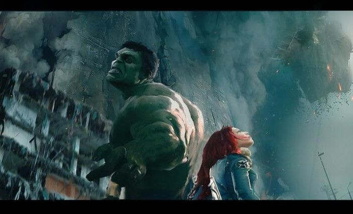 Hulk Black Widow Official The Avengers 2 Age of Ultron Concept Art 700x425 First Look At Quicksilver, Scarlet Witch & Hulkbuster Designs in The Avengers 2