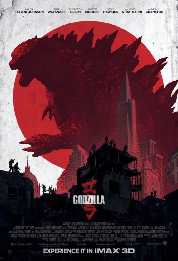 IMAX poster for Godzilla 570x833 Godzilla Gets a Japanese Trailer, TV Spot and IMAX Poster