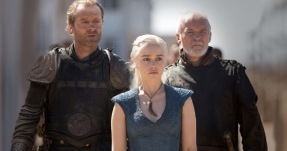 Ian Glen Emilia Clarke and Ian McElhinney in Game of Thrones Walk of Punishment Terminator Reboot: Jason Clarke in Talks to Play John Connor