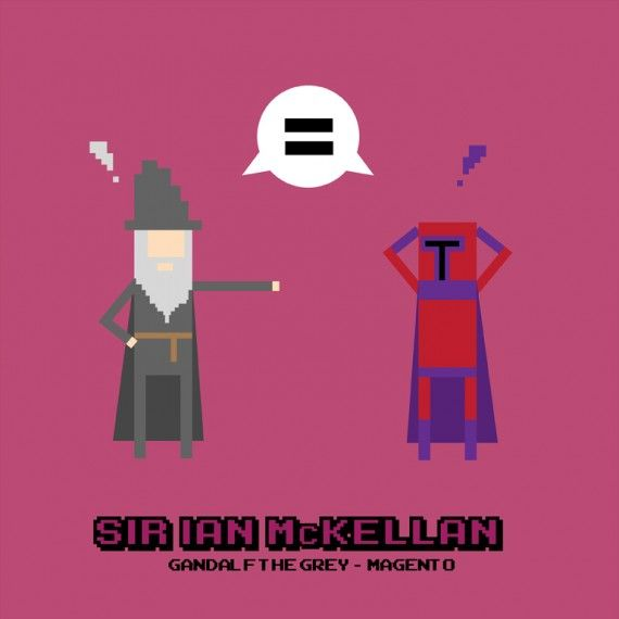 Ian McKellan Crossover 570x570 SR Geek Picks: Marvel & DC Superheroes as Robots, Batman vs Superman Minimalist Poster & More