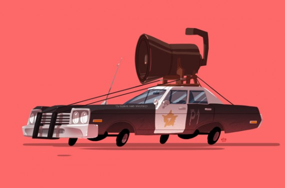 Iconic Film and TV Vehicles Get a Playful Reimagining in 'Greatest Rides' 570x376 SR Geek Picks: Iconic TV/Movie Vehicles, Cutest Animated Characters & More