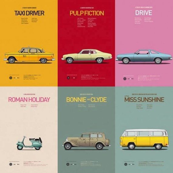 Iconic Movie Cars 570x570 SR Geek Picks: Iconic Movie Cars, Subway Bragger Prank, Jay Zs Picasso Baby & More
