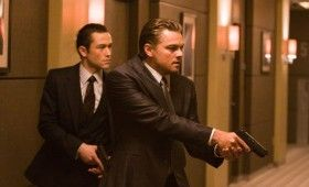 Inception image Leonardo DiCaprio and Joseph Gordon Levitt 280x170 Four New Inception Images