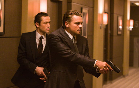 Inception image Leonardo DiCaprio and Joseph Gordon Levitt Inception Viral Site Explores Dream Research