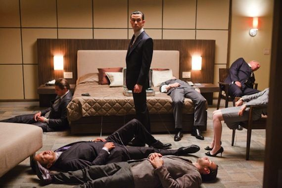 Inception production still 16 Looper: Rian Johnson & Joseph Gordon Levitt Talk Transforming Into Bruce Willis