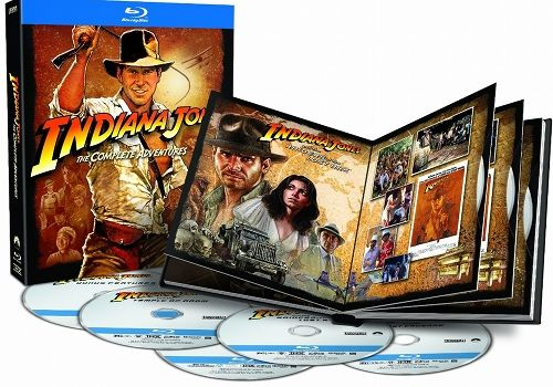 Indiana Jones Blu ray Collection disc cover art Indiana Jones Blu ray Collection Review