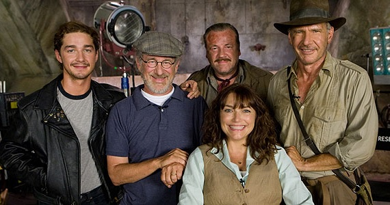 Indiana Jones and the Kingdom of the Crystal Skull cast photo Star Wars: Episode VII & Indiana Jones 5 Development Updates