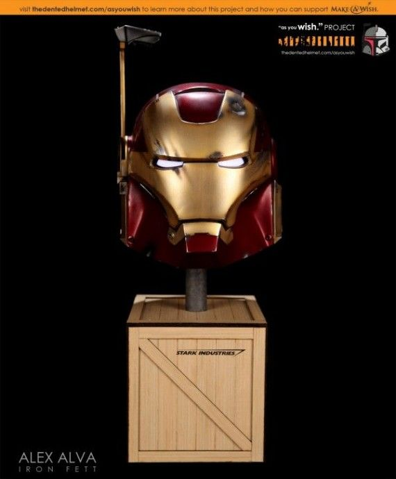 Iron Fett Helmet 570x690 SR Geek Picks: Toy Story: Call Me Maybe, Agent Coulson The Vision, Honest Hunger Games Trailer & More