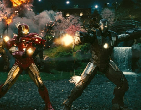 Iron Man 2 - War Machine & Iron Man Battle Drones