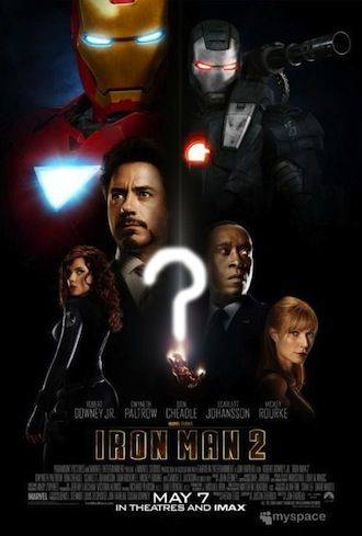 Iron Man 2 poster question mark New Iron Man 2 Poster is Missing Something