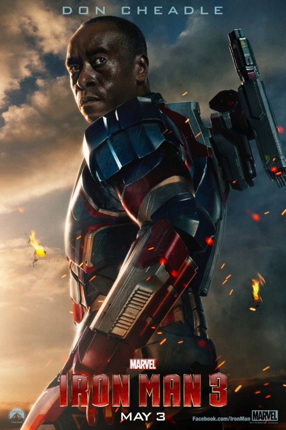 Iron Man 3 Don Cheadle Poster 570x858 Iron Man 3 Don Cheadle Poster