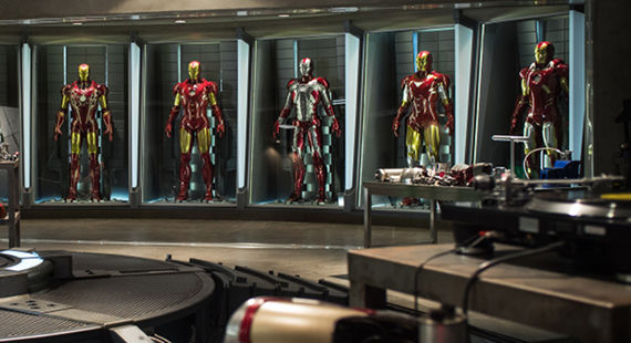 Iron Man 3 Hall of Armor Mark I VII Iron Man 3 Headlines Disney & Marvel Studios Comic Con Panels