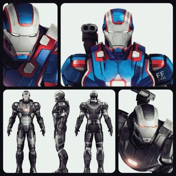 Iron Man 3 Iron Patriot War Machine Promo Art 570x570 War Machines Avengers Absence Explained in Iron Man 3 Prequel Comic