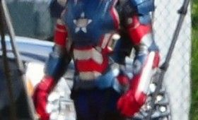 Iron Man 3 James Badge Dale in Iron Patriot Amor 280x170 Iron Man 3: Iron Patriot Armor Spotted on Set