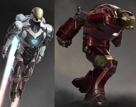 Iron Man 3 Space Hulkbuster Armors Concept Art 570x450 New Iron Man 3 Trailer May Showcase The Iron Legion