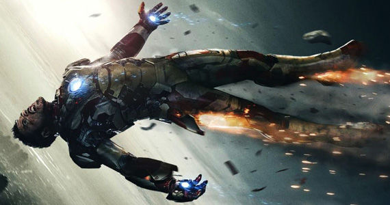 Iron Man 3 XLVII Falling Poster Sideways New Iron Man 3 Trailer May Showcase The Iron Legion