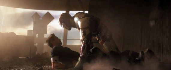 Iron Man 3 trailer Still Stark Mark XLVII copy 570x236 New Iron Man 3 Trailer May Showcase The Iron Legion