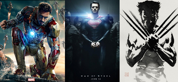Iron Man 3 vs Man of Steel vs Wolverine discussion reviews 2013 Iron Man 3, Man of Steel, The Wolverine   Which Superhero Movie Was the Best?