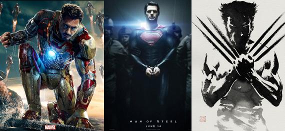 Iron Man 3 vs Man of Steel vs Wolverine discussion reviews 2013 Iron Man 3, Man of Steel, The Wolverine   Which Superhero Movie Was the Best?