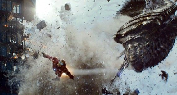 Iron Man Battles Chitauri Leviathan in The Avengers The Avengers Review