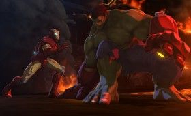 Iron Man and Hulk Armor in Iron Man Hulk Heroes United 2013 280x170 'Iron Man & Hulk: Heroes United' Images and Clip: Hulk Gets His Own Armor