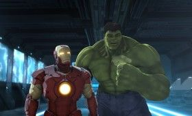 Iron Man and Hulk in Iron Man Hulk Heroes United 2013 280x170 'Iron Man & Hulk: Heroes United' Images and Clip: Hulk Gets His Own Armor