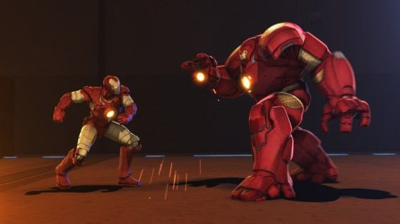 Iron Man vs Hulk Buster Armor in Iron Man Hulk Heroes United 2013 570x320 Iron Man vs Hulk Buster Armor in Iron Man & Hulk Heroes United (2013)